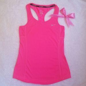 pink nike sports blouse